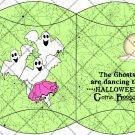 Boogie Ghost Green Webs ~ Pillow Box