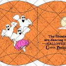 Boogie Ghost Orange Webs ~ Pillow Box