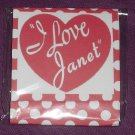 I Love Lucy Inspired Red & White Polka Dot ~ MINI Matchbook Nail File COVER