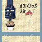 AA Marine Male ~ MINI Matchbook Nail File COVER