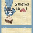Cacausian  Air Force Female ~ MINI Matchbook Nail File COVER