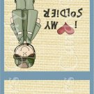 Cacausian  Army Female ~ MINI Matchbook Nail File COVER
