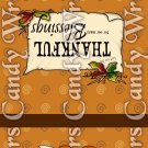Give Thanks #4 Thanksgiving ~ MINI Matchbook Nail File COVER