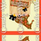Happy Thanksgiving Cat ~ MINI Matchbook Nail File COVER