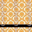 Happy Halloween Damask Orange #3 ~ MINI Matchbook Nail File COVER