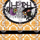Happy Halloween Damask Orange #4 ~ MINI Matchbook Nail File COVER