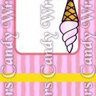 Ice Cream ~ MINI Matchbook Nail File COVER