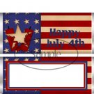 4th of July Stars & Stripes #2 ~ Standard 1.55 oz Candy Bar Wrapper  SOE