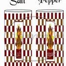 Brown Checkered Turkey ~ Salt & Pepper Shaker Wrappers