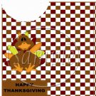 Brown Checkered Turkey ~ Utensil Holder ~ 1 Dozen