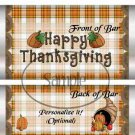 Happy Thanksgiving Cornicopia  ~ Standard 1.55 oz Candy Bar Wrapper  SOE