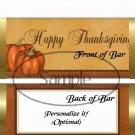 Happy Thanksgiving Pumpkins ~ Standard 1.55 oz Candy Bar Wrapper  SOE