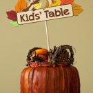 Kids Table Sign & Napkin Basket ~ Happy Thanksgiving ~  Cupcake Pick & Toppers ~ Set of 1 Dozen