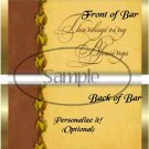Thanksgiving Blessings Gold ~ Standard 1.55 oz Candy Bar Wrapper  SOE