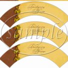 Thanksgiving Blessings Gold ~  Cupcake Wrappers ~ Set of 1 Dozen