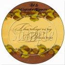 Thanksgiving Blessings Gold ~  Cupcake Pick & Toppers ~ Set of 1 Dozen