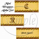 Thanksgiving Blessings Gold ~ Mini Candy Bar Alphabet & Numbers Wrappers