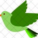 Green Bird  ~  Cupcake Pick & Toppers ~ Set of 1 Dozen
