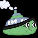 Green Tug Boat  ~  Cupcake Pick & Toppers ~ Set of 1 Dozen
