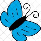 Cyan Butterfly ~  Cupcake Pick & Toppers ~ Set of 1 Dozen