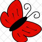 Red Butterfly  ~  Cupcake Pick & Toppers ~ Set of 1 Dozen