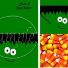Frankenstein's Monster ~  Treat Bag Topper 1 Dozen
