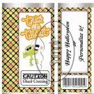 Ghost Crossing #1 Halloween~ Standard 1.55 oz Candy Bar Wrapper  SOE