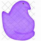 Purple Peep Insipred  ~  Cupcake Pick & Toppers ~ Set of 1 Dozen