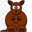 Kangaroo ~ Cupcake Pick & Toppers ~ Set of 1 Dozen