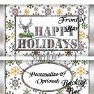 Happy Holidays Christmas Camo ~ Standard 1.55 oz Candy Bar Wrapper  SOE