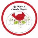 Cardinal  ~ Cupcake Picks & Toppers