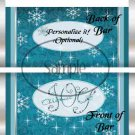 Christmas Joy Galaxy Blue Sparkles ~ Standard 1.55 oz Candy Bar Wrapper  SOE