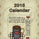 Coffee Time ~ 12 Month CD Case Calendar 2017