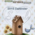 Birdhouse ~ 12 Month CD Case Calendar 2017