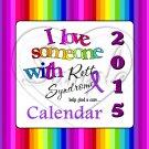 Rett Syndrone #2 ~ 12 Month CD Case Calendar 2017