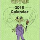 Frogs ~ 12 Month CD Case  Calendar 2017