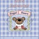 Angel Teddy Bear ~ CD Case 2015 Calendar