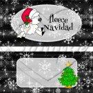 Fleece Navidad (Felice) Black ~ Standard 1.55 oz Candy Bar Wrapper  SOE