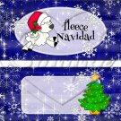 Fleece Navidad (Felice) Blue ~ Standard 1.55 oz Candy Bar Wrapper  SOE