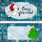 Fleece Navidad (Felice) Aqua ~ Standard 1.55 oz Candy Bar Wrapper  SOE