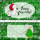 Fleece Navidad (Felice) Green ~ Standard 1.55 oz Candy Bar Wrapper  SOE