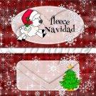 Fleece Navidad (Felice) Red ~ Standard 1.55 oz Candy Bar Wrapper  SOE