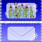 Peas (Peace) On Earth Blue ~ Standard 1.55 oz Candy Bar Wrapper  SOE