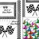 Faux NASCAR Cross Finish Flags ~  Treat Bag Topper