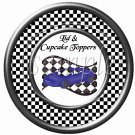 Faux NASCAR Racecar Blue ~ Cupcake Picks & Toppers