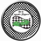 Faux NASCAR Racecar Green ~ Cupcake Picks & Toppers