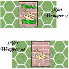 Faux Ninja Turtles Set #2 ~ MINI Candy Bar Wrappers