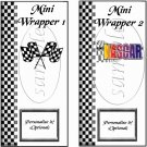 Faux NASCAR Cross Checkered Flag Logo ~ MINI Candy Bar Wrappers