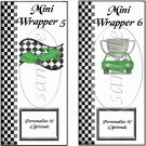 Faux NASCAR Green ~ MINI Candy Bar Wrappers