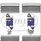 Faux NASCAR Blue ~ Salt & Pepper Shaker Wrappers